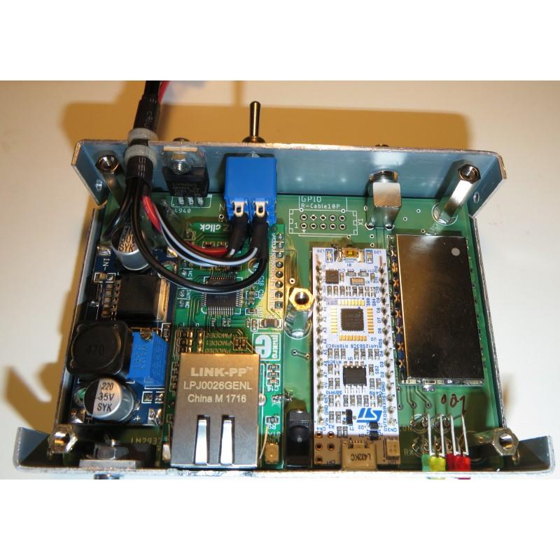 Assembled modem in enclosure