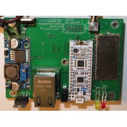 Top side of assembled modem